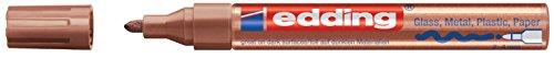 edding 750 Glanz-Lack-Marker Rundspitze - Kreatives gestalten von fast allen Oberflächen (Z.B. Glas, Karton, Dunkles Papier, Keramik, Stein), kupfer