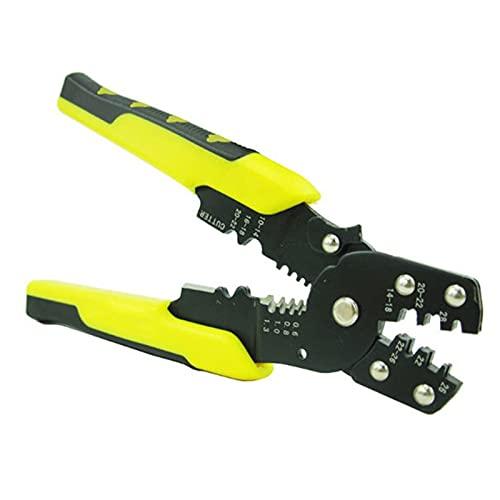 Alicates fuertes y duraderos Stripper de cable de cable Herramienta de engarce automática de acero altos Alicates de cáscara de acero altas Ajuste de terminal ajustable Corte de corte Multi-Tool Close