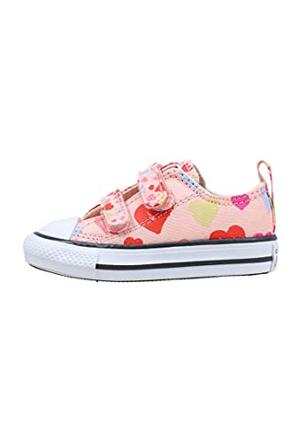 Converse Chuck Taylor All Star 2V Ox Always On Hearts Rosa/Creme (Storm Pink/Natural Ivory) Textil 26 EU