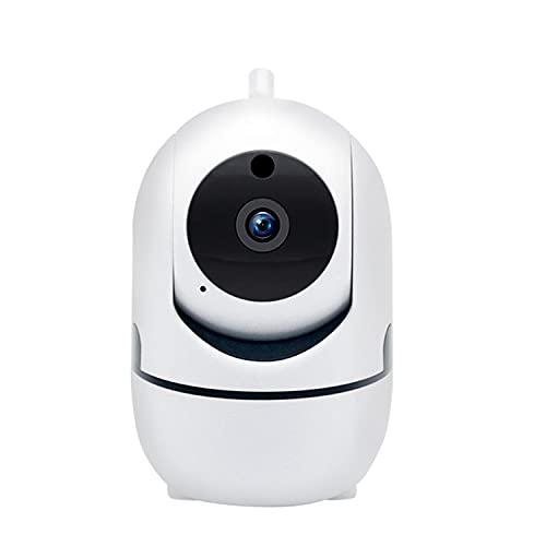 Monitor De Video para Niños con Cámara Y Audio, Cámara De Videovigilancia En Red Inalámbrica De Gran Angular con Giro/Inclinación para Interiores De 1080P HD con Alerta De Sonido De 32 GB TF