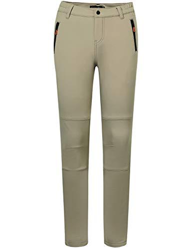 Camii Mia Women's Winter Warm Outdoor Slim Windproof Waterproof Ski Snow Fleece Hiking Pants (32W x 30L, Khaki)