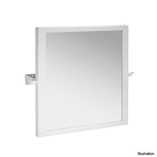 Kippspiegel 600 x 600 mm weiß Badartikel Bad Zubehör Badezimmer