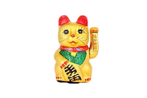 Hua Rong Sheng 21cm Winkend Keramik Glückskatze Maneki Neko.