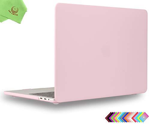 UESWILL MacBook Pro 13 inch Case 2019 2018 2017 2016, Smooth Matte Hard Case for MacBook Pro 13 inch (USB-C), with/without Touch Bar, Model A2159/A1989/A1706/A1708, Rose Quartz