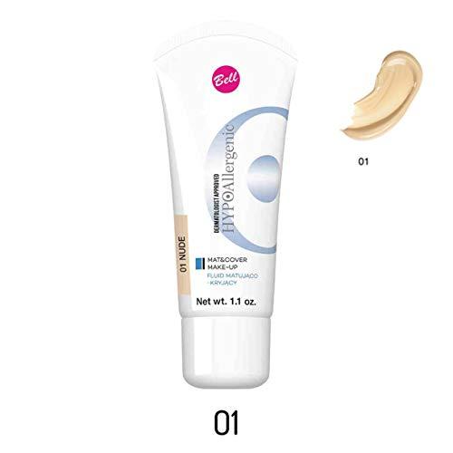 HYPOAllergenic Mat & Cover Make-Up Nr. 01 Nude Inhalt: 30g Mattierendes und Deckendes Fluid Make Up Foundation