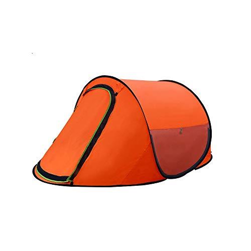 ZR Tienda Exterior para 2 Personas, Tienda de campaña automática para Camping, Tienda de campaña de Velocidad de Campo Abierto, Tienda de Juegos para niños, casa de Juegos, Naranja (Color : Naranja)