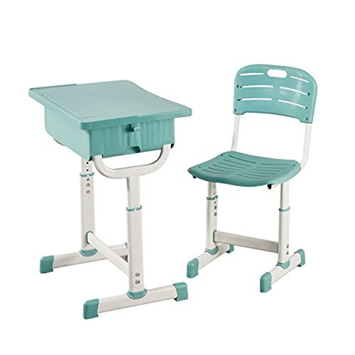 Tolalo Tavolini per bambini Sedie, tavolo e sedia per bambini Set, Scuola Kids Scrivania e Sedie Set, Set di bambini regolabili in altezza Tavolo da studio e sedia Set con stoccaggio, Scrivania per ba