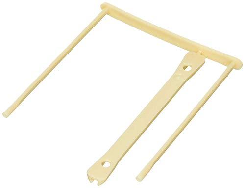 Elba 100725515 - Caja de 100 encuadernadores de plástico, color beige