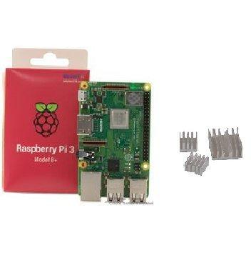 Raspberry Pi 3 Model B+ 正規代理店品 element14 UK製(ヒートシンク3個)