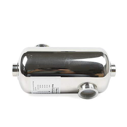 Fetcoi Intercambiador de calor de acero inoxidable para piscina, 28 kW, 292 x 134 mm