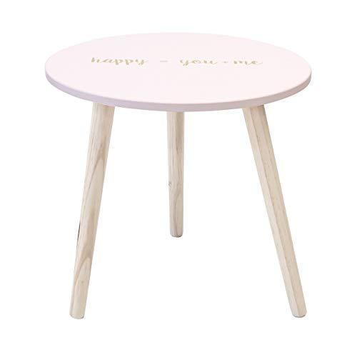 Suarez bijzettafel, hout, roze, 45 x 45 x 44 cm