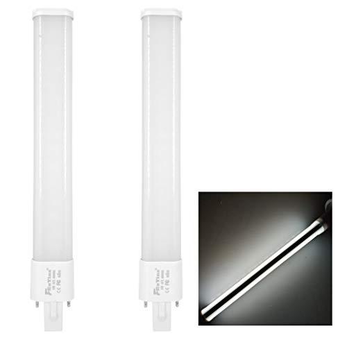 FExYinz Pack de 2 bombillas LED G23 de doble cara 2 años de garantía 8 Watt Blanco natural 4000K 800 lúmenes Ra 85 PL lámpara CFL LED bombilla compacta G23 tubo de luz para iluminación interior