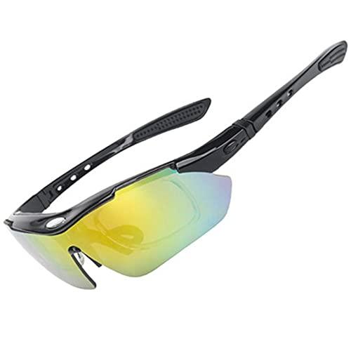 YIA Gafas de sol deportivas, gafas de equitación, pesca polarizada al aire libre, montañismo, correr, motocicleta deportiva, gafas cortavientos, maratón rojo