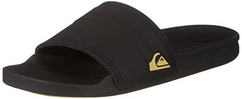 Quiksilver Herren Rivi Slide Water Shoe, Black Black Yellow, 45 EU