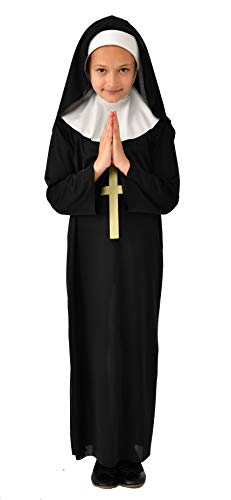 Rubie's Nun Costume for Kids | Children Nun Costume (Medium) Black