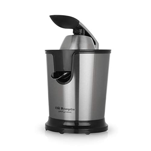 Orbegozo EP 4200 - Exprimidor zumo eléctrico de naranjas con brazo articulado, acero inoxidable, 160 W de potencia, sistema antigoteo