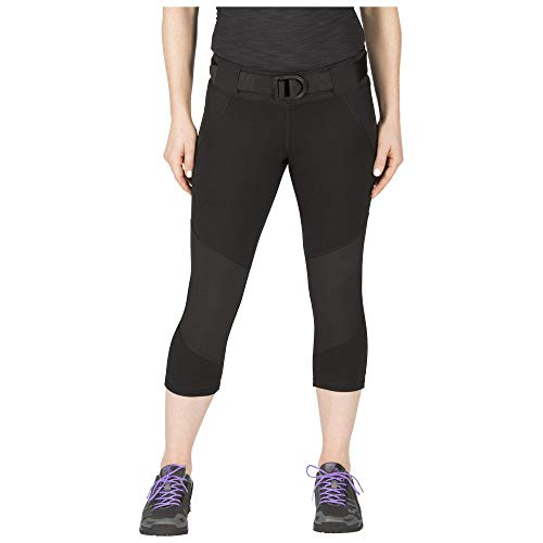 5.11 Tactical Series Raven Range Pant-Capri Legging Femme, Black, FR (Taille Fabricant : XL)