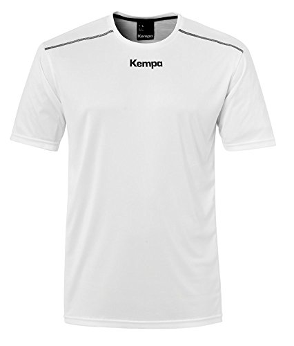 FanSport24 Kempa Handball Polyester Shirt Kurzarm Training Top Rundhals Herren weiß Größe L
