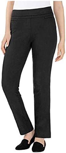 Hilary Radley Ladies Comfort fit Sits at Waist Slim Leg Stretch Pull On Pant Black 10 product image
