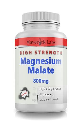 Magnesium Malate Pure Capsules 800mg Per Capsule - NO Fillers - Vegetarian...