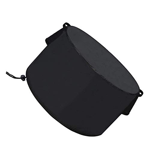 JHDS Round Fire Pit Cover, Waterproof, Windproof, Anti-UV, Heavy Duty Rip Proof 600D Oxford Fabric Outdoor Garden Patio Heater Cover, Large Firepit Cover Suitable for Outdoor BBQ Oven Fire standard