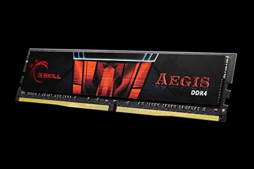 G.Skill Barrette mémoire RAM 16 Go DIMM DDR4 Aegis PC4-24000 (3000 MHz) (Noir et Rouge)