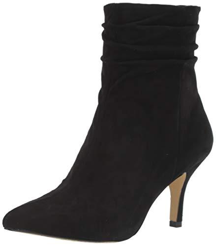 Bella Vita Women's Danielle Dress Bootie Ankle Boot, Black Suede Leather, 8.5 M US