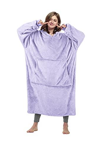 Catalonia Classy Übergroße Decke Hoodie Sweatshirt, Riesen Fleece Pullover mit großer Fronttasche, super weich warm bequem für Erwachsene Männer Frauen Teenager Kinder Frau Freundin, extra lang