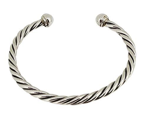 TreasureBay Super Heavy Sterling Silber Armreif für Herren