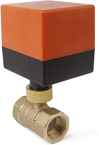 3 Wege Zonenventil Kugelventil Absperrhahn DN20 G3/4 Zoll AC 230V DreiWegeventil Umschaltventil Absperr-Umschalt-Kugelventil Elektro Ventil 2 Modus
