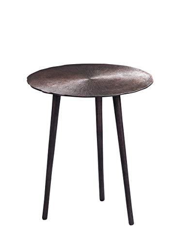 HomeTrends4You Nanda 1 salontafel/bijzettafel/tafelset, metaal, koper, diameter 40 cm, hoogte 46 cm
