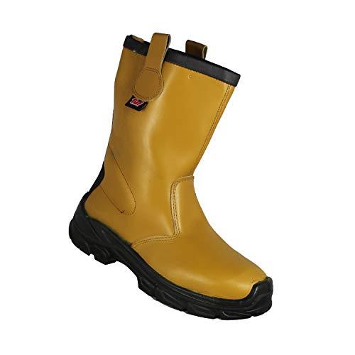 TuF Stiefel S3 CI SRC Mehrzweckstiefel Gartenstiefel Stiefel Beige B-Ware, Größe:39 EU