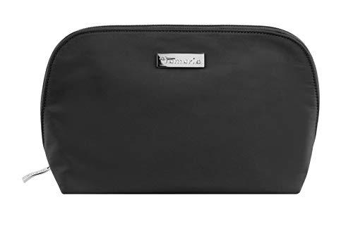 Tamaris Edition Kosmetiktasche Damen für die Handtasche, Schminktasche Make Up Tasche mit Reißverschluss, Schwarz