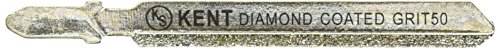 "6 Pack 3"" T-Shank Kent Diamond Coated Jig Saw Blades Grit 50"