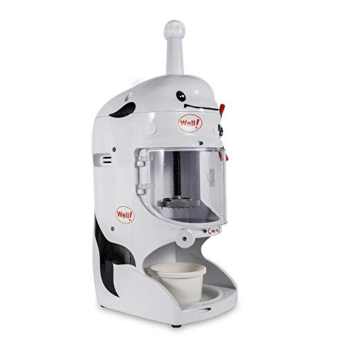 BSTOOL Shaved Ice Machine Ice Shaver Snow Cone Maker, Commercial 350W Electric Ice Shaver Machine Snow Cone Maker Automatic Ice Crusher 110V
