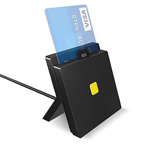 Lecteur de Carte d'identité électronique Pubioh Cartes de Contact Lecteur de Carte à Puce USB ID d'accès commun Lecteur électronique Lecteur de Carte SIM