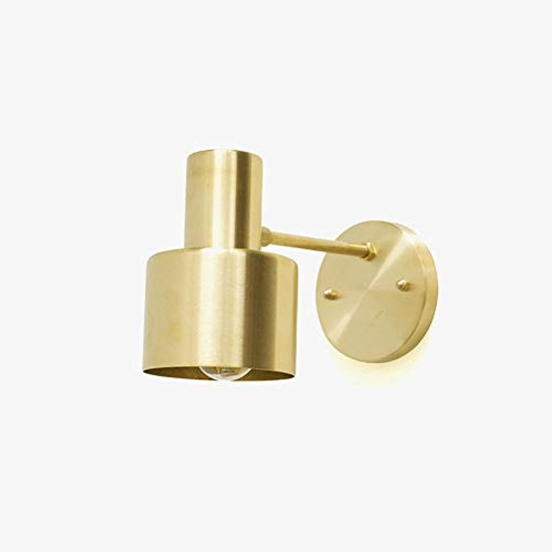 Messing Gold farbe LED wandleuchte innen schlafzimmer nachttischlounge kaffee treppe flur bad nachtlicht, reines kupfer
