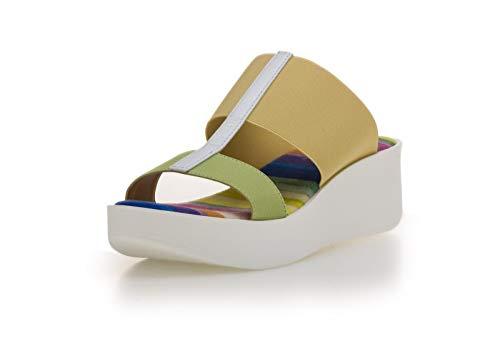 the flexx scarpe donna The FLEXX Winona Ciabatta Zeppa Donna Verde Acido 37 EU