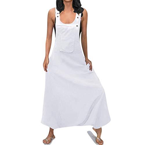 STRIR Mujer Baggy Peto de Pantalones Largos Gasa Mono Harem Anchos Talla Grande Casual Moda Bolsillos Tiras Fiesta