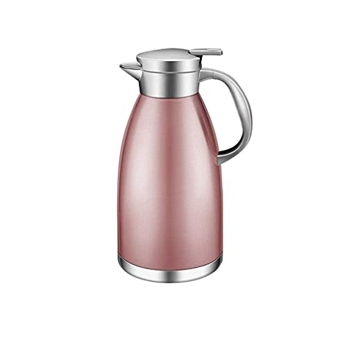Daily Accessories Insulation Pot Home Stainless Steel Insulated Kettle Hot Water Kettle Thermos 1.8L (Color : Pink)