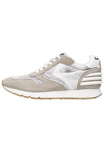 VOILE BLANCHE Liam Power-Sneaker in Suede Vintage, Nylon Tecnico e Micro Rete Grigio 43