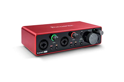 Focusrite Scarlett 2i2 (3rd Gen) USB Audio Interface with Pro Tools | First