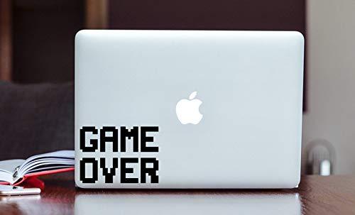 Game Over Laptop Decal Verwijderbare Vinyl Muursticker Huid Nieuwigheid Grappige Auto Venster Glas Decal door DKISEE 5cm wide Veelkleurig
