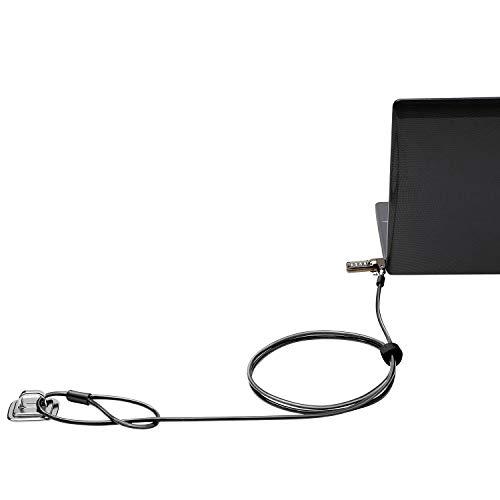 CaLeQi Laptop-Kabelschloss, Hardware, Sicherheitskabel, Diebstahlsicherung und Ankerpunkt, 2 m, Schwarz