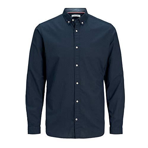 JACK & JONES Herren Hemd Button-down-Kragen LNavy Blazer