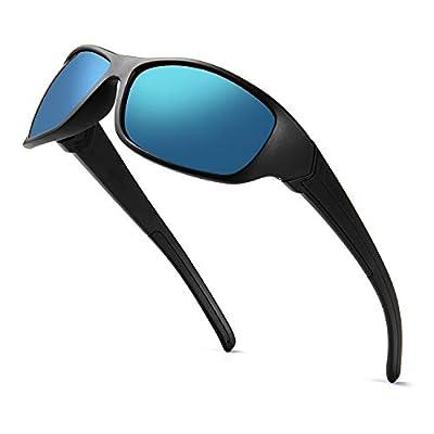 DEAFRAIN Polarized Sports Sunglasses for Men Women Driving Fishing Cycling Running UV Protection