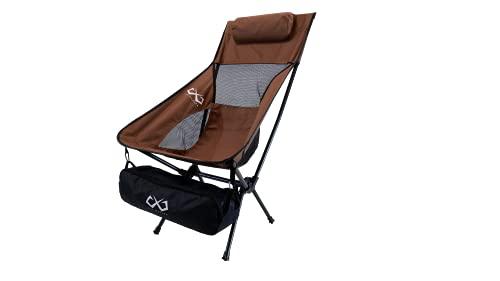 BASARO (バサロ) エアレガートチェア アウトドアチェア ハイバック キャンプチェア 防水布を用いた収納バッグ bas-sm-chair-long モカブラウン