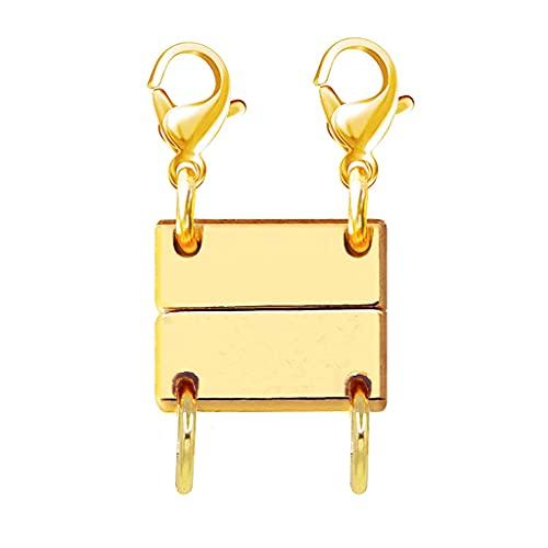 Lobounny Collar con cierre magnético para joyería doble triple cierre separador para collares apilables y cadenas pulseras DIY, Vidrio,