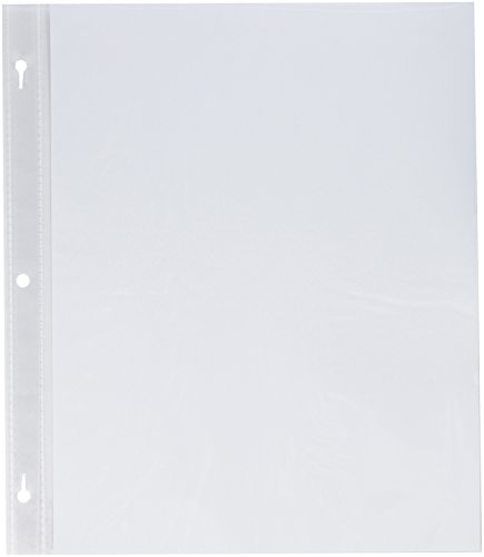 3-Pack - Pioneer Post Bund Top Loading Page Protectors with White Inserts, 8.5 by 11-Inch, 5-Sheets Each