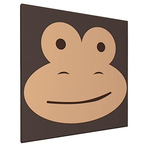 Mono - Calcetín mono - Divertido disfraz de Halloween para pared, lienzo de impresión de cuadros indios bohemios modernos para sala de estar, dormitorio, baño, 40 x 40 cm, pintura decorativa sin marco